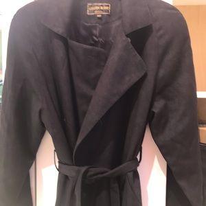 Kristen black black rain coat